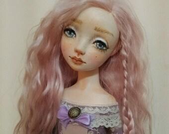 """OOAK Art Doll, """". Lola"""" , boudoir doll, movable doll, home decor"""