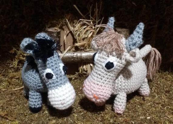 Ochs Und Esel Krippe Amigurumi Häkeln Baumwolle Etsy