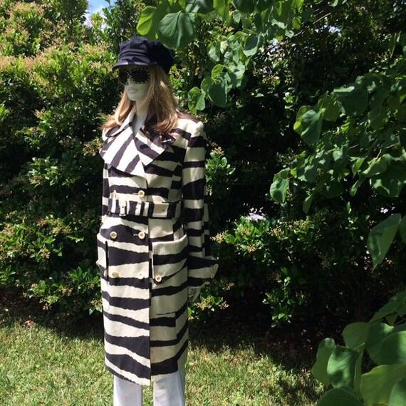 Vintage 80s zebra print coat | Spiegel - image 2
