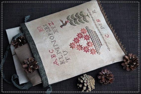 Dezember Nähen Tasche / Primitive Kreuzstich-Muster / digitale | Etsy