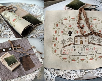 Rosemary Williams Sampler / Cross stitch pattern / PDF