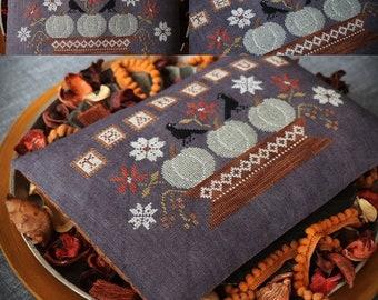 Thankful / Primitive cross stitch pattern / PDF