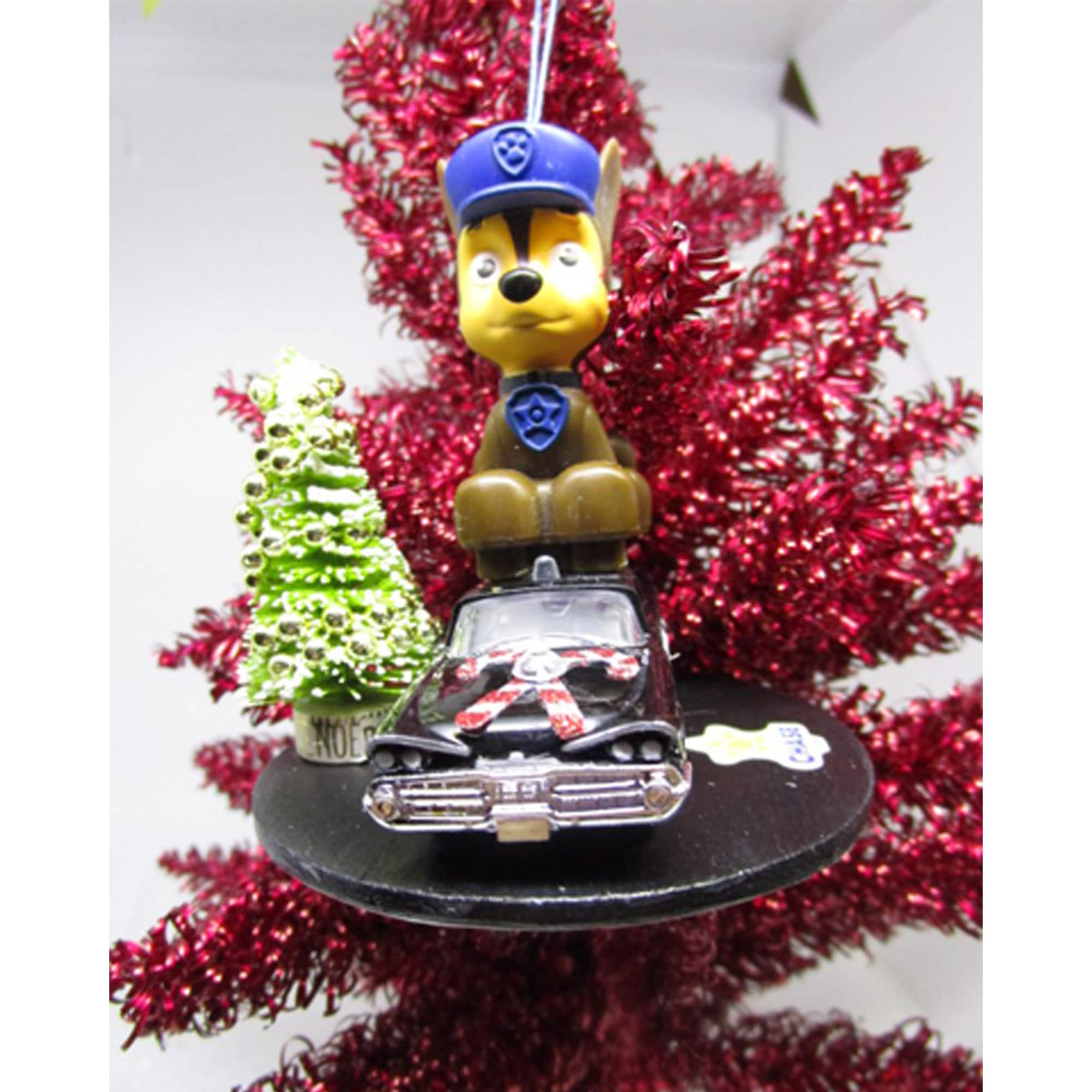 Paw Patrol Christmas Ornament.Chase Paw Patrol Christmas Ornament