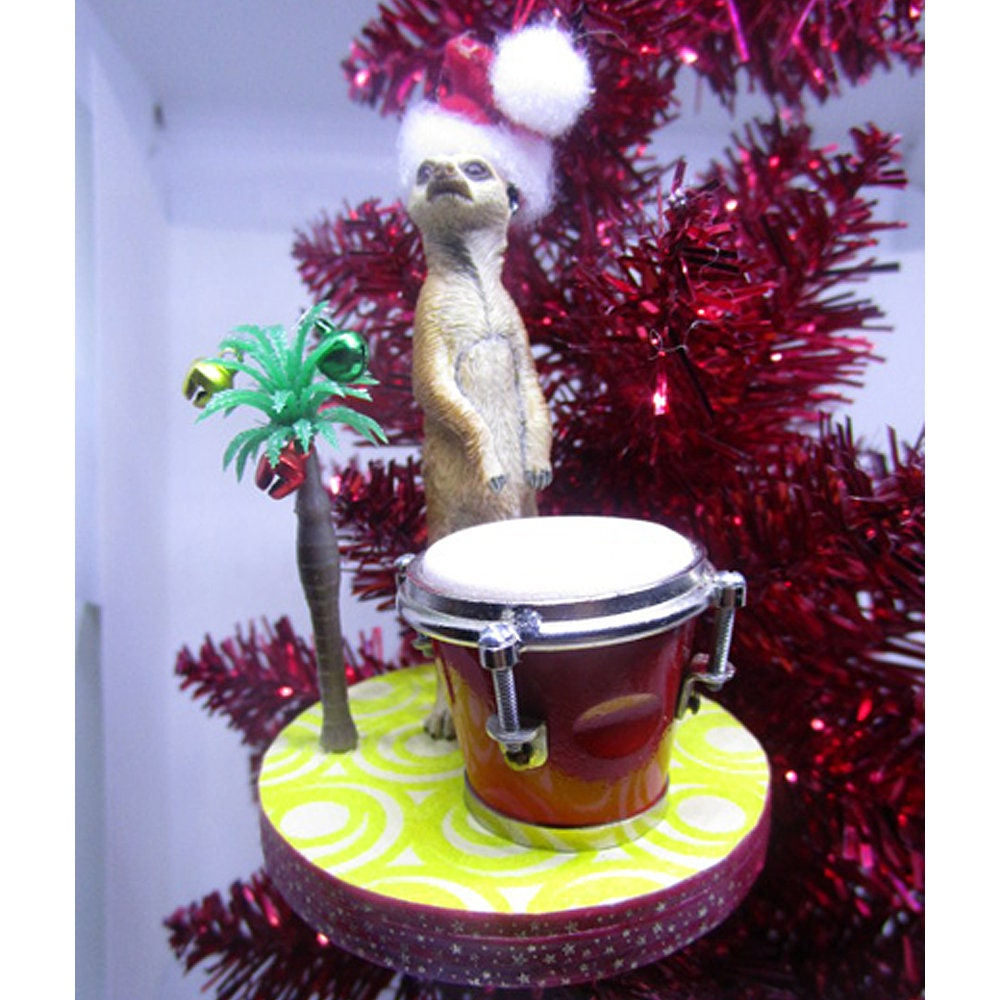 Meerkat Ornament; Congo Drum Ornament; Christmas Tree ...
