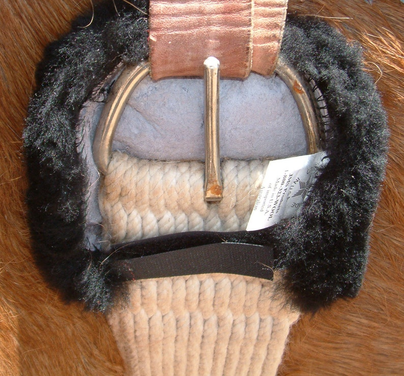 e656afd96deea One Pair Australian Merino Sheepskin Cinch Ring Buckle or Billet Pads  Comfort for Horse Girths