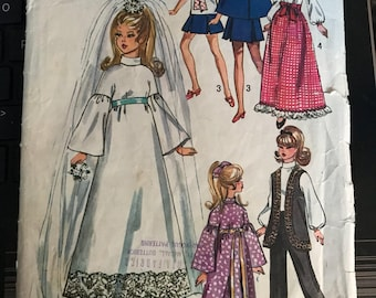 Vintage 70s Simplicity 9097 Barbie Doll Pattern