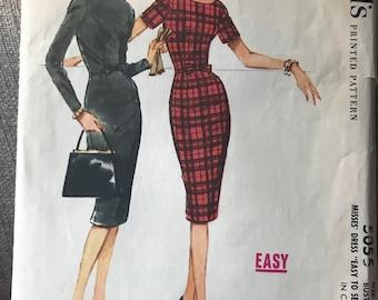 Vintage 60s McCall's 5055 Dress Pattern-Size 14 (34-26-36)