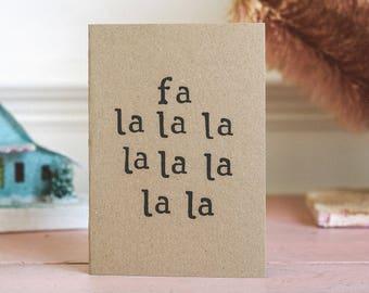 Fun Christmas Card - Fa la la | Christmas Carol Singing | Xmas | Typography
