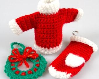 57578ea7475a9e Free Crochet Pattern Amigurumi Christmas Crochet Patterns Crochet Decor  Pattern Crochet Wreath Crochet Sweater Pattern Crochet Gloves P015