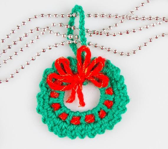 Christmas Crochet Wreath Crochet Pattern Crochet Wreath Brooch Etsy