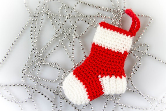 Mini Christmas Stockings Crochet Pattern Christmas Crochet Etsy