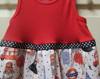 Uptown Girl Tank Top Dress, Size 3T, Ready to Ship