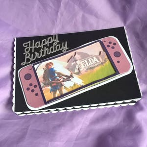 Legend Of Zelda Themed Birthday Card A Name Age Or Family Member Can Be Added If You Ask Me When Order The
