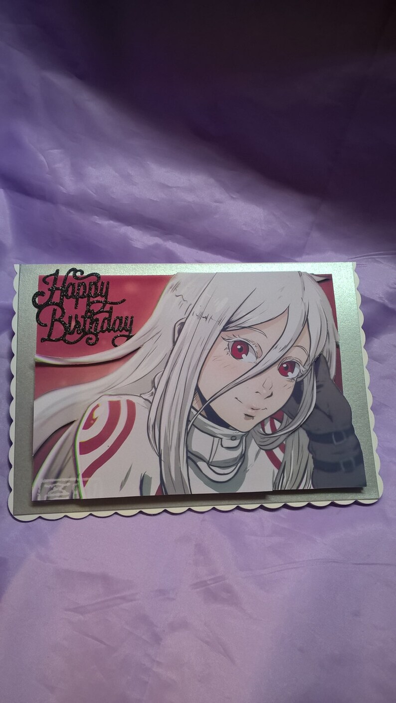 Shiro Happy Birthday Cardcharacter From The Japanese Anime