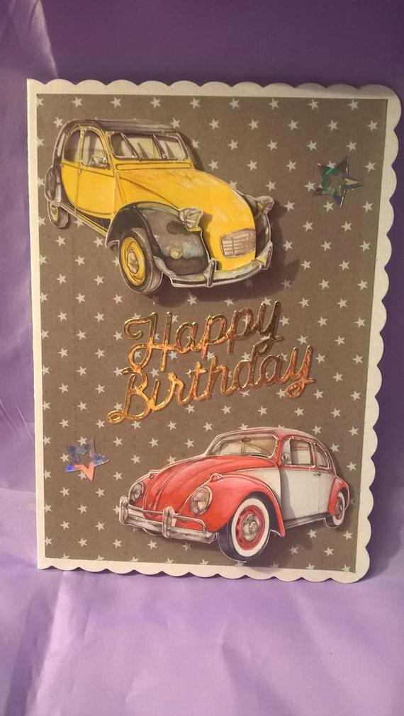 Oldtimer Alles Gute Zum Geburtstagskarte Etsy