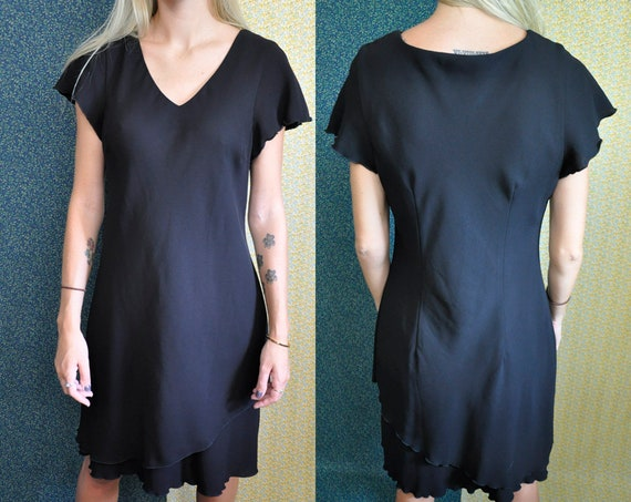 Vintage Black Dress Sl Fashions Petites Little Black Etsy