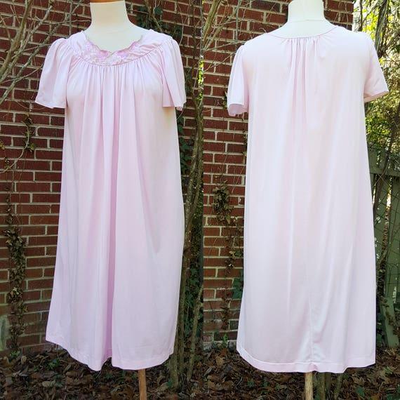 15281312af3 Vintage Shadowline Nightgown Slip Floral Rose Embroidery