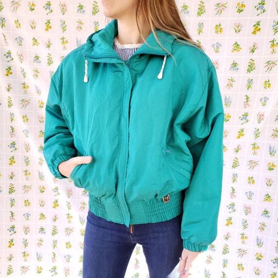 Vintage 80s Winter Coat  - Bomber Jacket Puffer -
