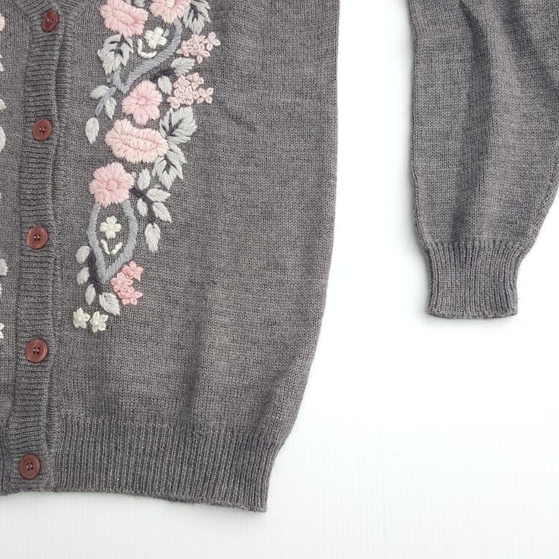 Vintage 90s Floral Cardigan Sweater Alfred Dunner