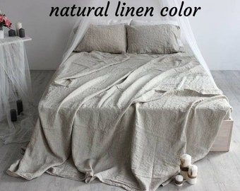 Linen Sheets Set 4pcs Organic Eco Fabric Luxury Full Double Queen King Twin Double 100% Organic Flax BEST Prices Natural Sheets Eco Sheets