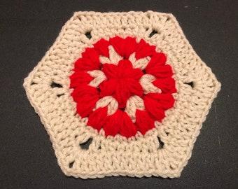 CROCHET PATTERN Crochet Large 3D Flower Granny Hexagon   Etsy