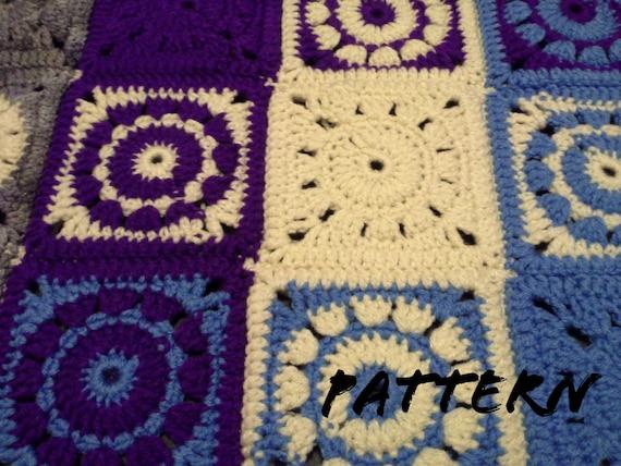 Crochet Pattern Circle Center Granny Square Pattern No1 Etsy