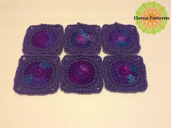 Crochet Pattern Mini Circle Center Granny Square Pattern Etsy