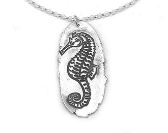 Silver Seahorse Pendant | Seahorse Necklace | Beach Pendant | Beach Lover Necklace | Beach Jewelry Silver | Seahorse Jewelry | Ocean Jewelry