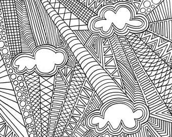 Abstract colouring sheet bundle #2