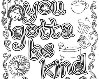Words to live by colouring sheet bundle