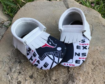 Houston Texans- Baby Moccs- Baby Moccasins by TexasMoccs