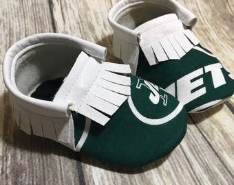 New York Jets- Baby Moccs- Baby Moccasins by TexasMoccs