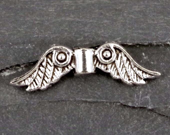 5 x Rhinestone Elephant Ruby Charms Antique Silver Alloy Pendant Bracelet CH33