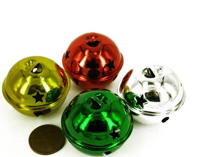 "10 20 50 Big 20 mm 3//4/"" Silver Mixed Gold jingle bells Charm Christmas Pendant"