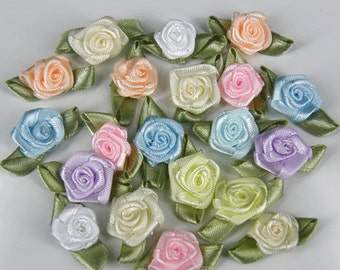AQUA BLUE Rosebuds Roses Wedding Card Embellishments Rose buds 25 100 500