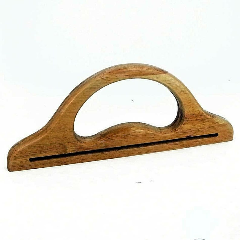 wooden D Shaped making bags Craft Bag Handles Large Pair of Wood Sewing BH10