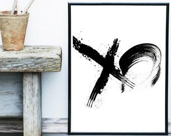 Printable Art, Inspirational Print, XO Print, Typography Quote, Home Decor, Motivational Poster, Digital Download, Wall Art