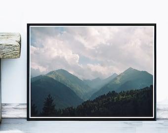 Mountain Art Print, Landscape Photo, Printable Art, Mountain Photography, Home Decor, Wall Decor, Wall Art, Instant Download