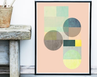 Geometric Print, Instant Download, Printable Art, Geometric Art, Geometric Wall Art, Abstract Art Print, Large Wall Print