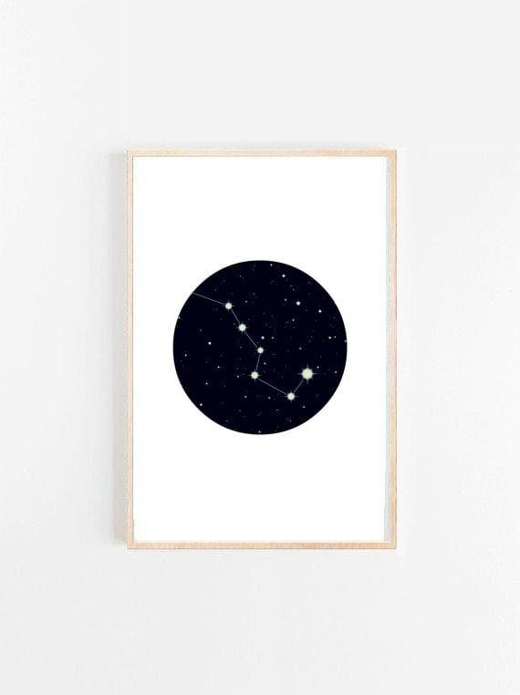 Sternbild Druck Druckbare Kunst Nachthimmel Sternen Print Etsy