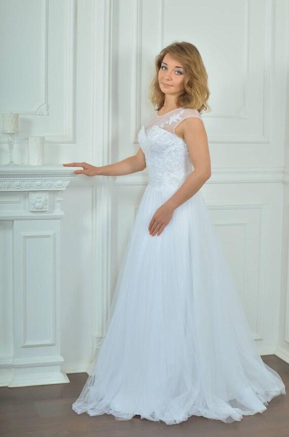 Long Wedding Dress Lace Wedding Dress A-silhouette