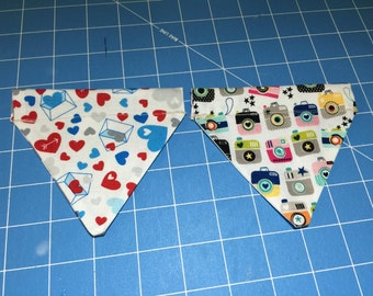 slip over collar bandana (set of two).... Cat  .....for dogs please ask