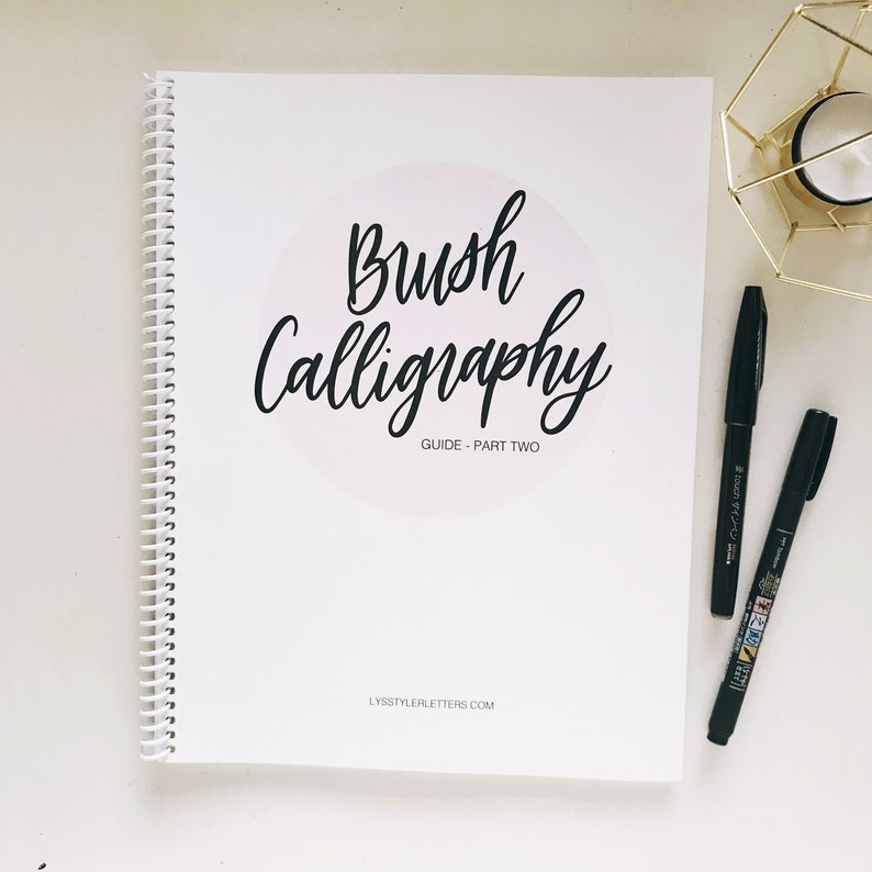 DIGITAL COPY  Brush Calligraphy Guide  Part Two  Learn image 0