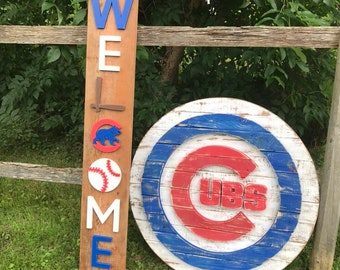 Chicago Cubs Sign Etsy