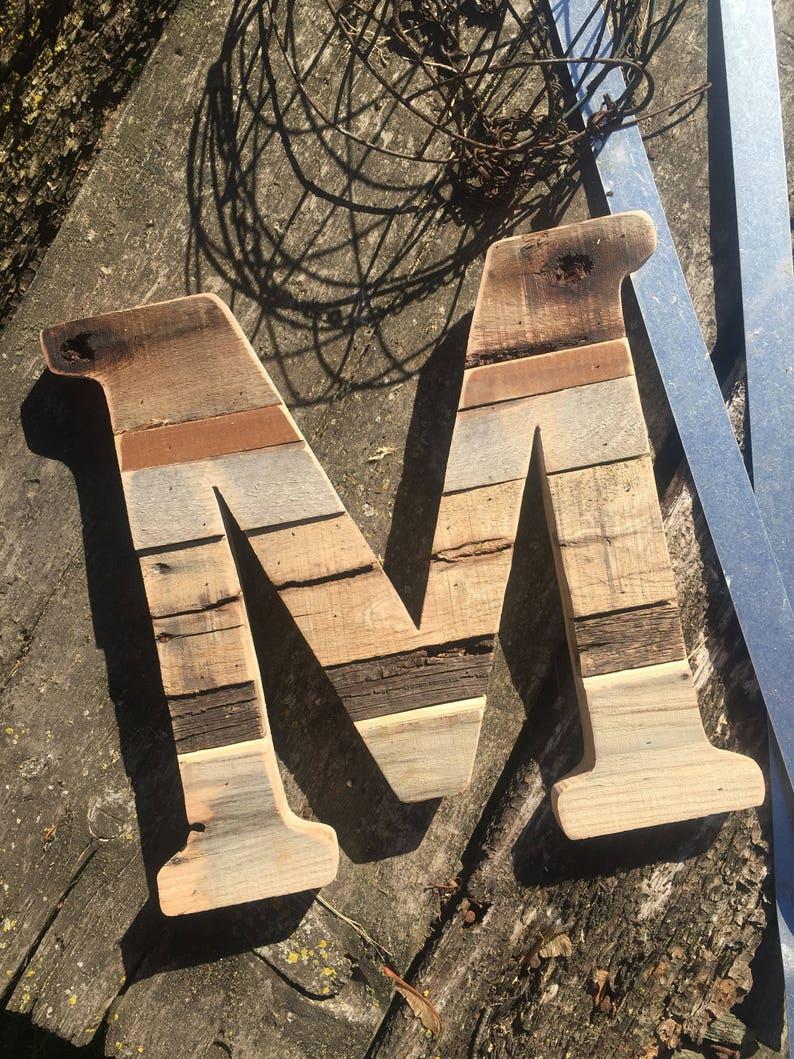 Wood Letter Door hanger Rustic Pallet Home Decor   Etsy
