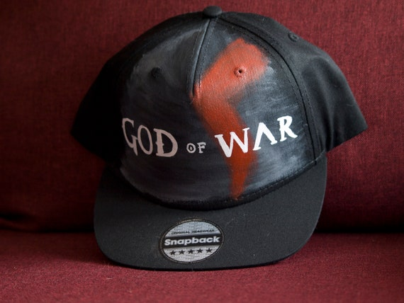 hand painted snapback God of war  576133a12b0