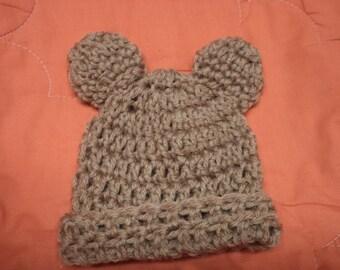 Newborn Baby Bear Crochet hat