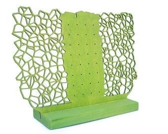 Earring Holder Stand ORGANIC for Studs and Dangle Earrings - Earring Storage Display - Jewelry Organization Rack for Table Top or Shelves
