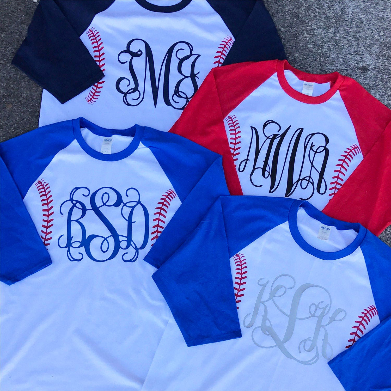 a460f042 Monogram Baseball Shirt Baseball Mom Shirt Baseball Number | Etsy