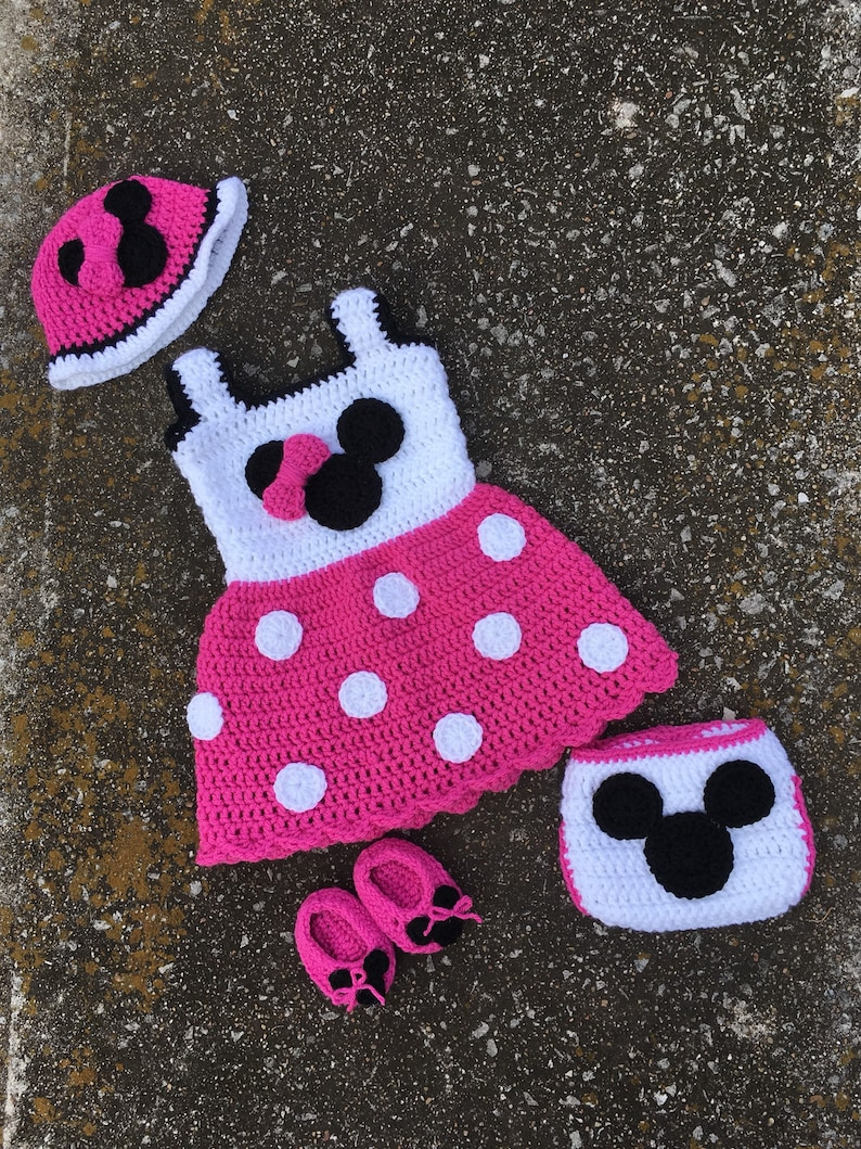 Minnie Mouse Outfit Newborn Minnie Mouse Outfit Crochet Etsy